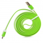 MTX-8 USB Male to 8 Pin Lightning Male Charging Data Cable for iPhone 5 - Green + White (200CM)