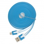 SHUNG-830 USB Male to 8 Pin Lightning Male Charging Data Cable for iPhone 5 - Blue + White (300CM)