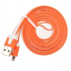MTX-8 USB Male to 8 Pin Lightning Male Charging Data Cable for iPhone 5 - Orange + White (200CM)