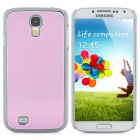 Protective Electroplated Aluminium Alloy Back Case for Samsung Galaxy S4 - Light Purple + Silver