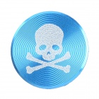 Skull Pattern Aluminum Alloy Home Button Sticker for Iphone / Ipad / Ipod - Blue + White