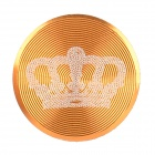 Crown Pattern Aluminum Alloy Home Button Sticker for Iphone / Ipad / Ipod - Golden + White