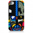 Graffiti Style Protective Plastic Back Case for Iphone 4S - Multicolor