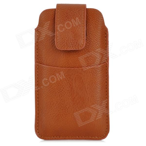 Protective PU Leather Pouch Bag for Iphone 5 / 4 / 4S - Coffee protective pu leather bag pouch with for iphone 5 blue white