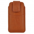 Protective PU Leather Pouch Bag for Iphone 5 / 4 / 4S - Coffee