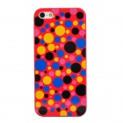 Polka Dot Style Protective Plastic Back Case for Iphone 5 - Red + Black + Yellow + Blue