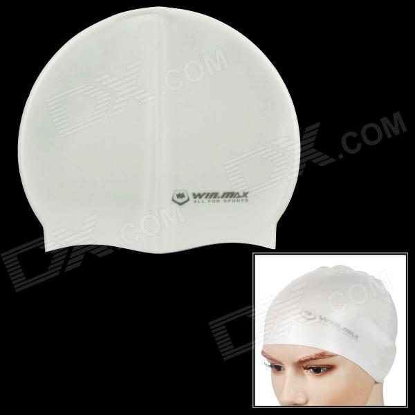 WIN MAX WMB07200 Stylish Silicone Swimming Cap - White win max wmb07200 stylish silicone swimming cap white