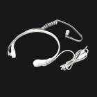 Throat Vibration Type Microphone w/ Earphone for Iphone 5 - White + Transparent ( 3.5mm Plug / 1M)