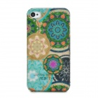 Ultrathin Flowers Style Protective PC Back Case for iPhone 4 - Multicolor