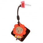 Cute Lion Style 3.5mm Earphone Jack Anti-Dust Kit w/ Cleaner - Multicolored