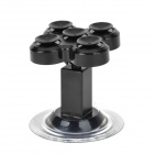 CYMN008 Universal 360 Degrees Rotation Car Mount Suction Cup Holder Stand for Cellphones - Black