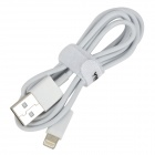 YIBOYUAN USB Male to 8 Pin Lightning Male Charging Data Cable for iPhone 5 - White (100 CM)