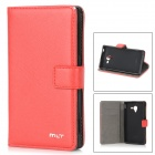 MLT Stilvolle Protective PU Leder + TPU für Sony Xperia ZL L35h - Red