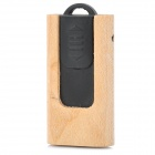 MUT-07 Wooden Push Design USB 2.0 Flash Drive - Wood + Black (8GB)