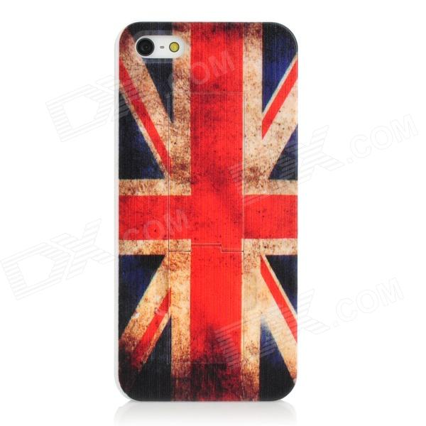 UK National Flag Style Protective Plastic Back Case for Iphone 5 - Red + Blue + White цена и фото