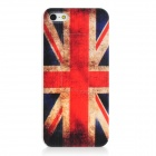 UK National Flag Style Protective Plastic Back Case for Iphone 5 - Red + Blue + White
