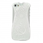 Creative Cheongsam Style Protective Plastic Back Case for Iphone 5 - White