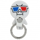 Mini 360 Degree Rotating Stand Holder for iPad / iPhone - White + Black + Blue + Red + Silver