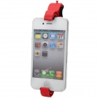 Car Steering Wheel Mount Cell Phone Clip Holder - Black + Red