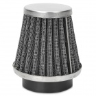 48mm Conical Air Filter for Scooter Motorcycle Modified - Black + Silver