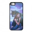 Buy Naked Eye 3D Beautiful Girl & Wolf Style Protective PVC Back Case Iphone 5 - Black