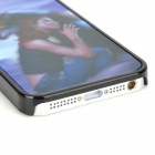 Naked Eye 3D Beautiful Girl & Wolf Style Protective PVC Back Case for Iphone 5 - Black