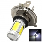 H4 5W 600lm White Car Light w/ 4 x COB LED + 1 x Cree XP-E (12~30V)
