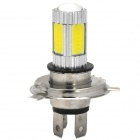 H4 5W 600lm Blanco Light Car w / 4 x COB LED + 1 x Cree XP-E (12 ~ 30V)