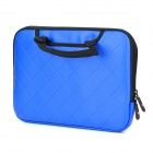 "Checked Style Protective PU Leather Hand Bag for iPad / iPad 2 / The New iPad / 10"" Tablet PC - Blue"