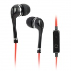 OMASEN OM-98 In-Ear Stereo Earphones w/ Microphone - Black + Red (3.5mm Plug / 110cm-Cable)