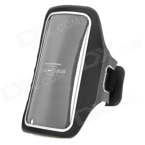 IA-5 Protective Neoprene Sports Armband for Iphone 4 / 4S / 5 - Black + Grey