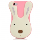 Cute Le Sucre Style Protective Silicone Case for Iphone 4 / 4S - Pink + White