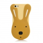 Cute Le Sucre Style Protective Silicone Case for Iphone 5 - Light Yellow + Brown