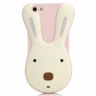 Cute Le Sucre Style Protective Silicone Case for Iphone 5 - Light Pink + White