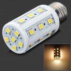 TOHDA TH-LEDJN-5N E27 5W 250~300lm 2700~3500K 24-5050 SMD LED Warm White Light Lamp - White + Silver
