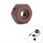 Screw Shaped Silicone Earphone Cord Cable Winder Organizer - Brown