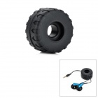 WL200 Tyre Shaped Silicone Earphone Cord Cable Winder Organizer - Black