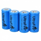 Ultrafire 16340 3.6V Batteries - Blue (4PCS)