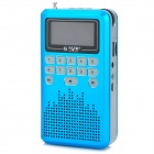 "See Me Here LV290 Portable 1.8"" LCD Digital Speaker w/ FM Radio / TF Slot / Mini USB - Blue + Silver"
