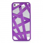 Beijing Olympic Bird's Nest Design Protective Plastic Back Case for iPhone - Purple