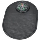 Car Mobile Phone Silicone Non-slip Mat w/ Compass - Black