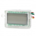 "Motorcycle Water Resistant Digital 1.4"" LCD Clock w/ Blue Backlight - White"