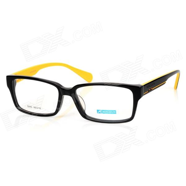 купить MINGDUN 9245 Fashion Unisex Full Frame Cellulose Acetate Glasses Frame - Black + Yellow недорого
