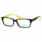 MINGDUN 9245 Fashion Unisex Full Frame Cellulose Acetate Glasses Frame - Black + Yellow