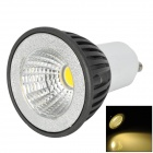 GU10 3W 180lm 3500K LED Warm White Bulb - White + Grey (85~265V)