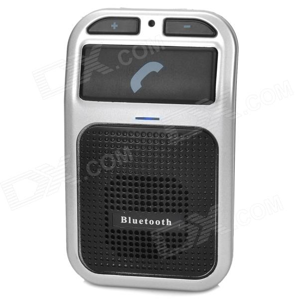 DX / 60I Voice Control Car Bluetooth V3.0 Handsfree Telephone - Black + Silver