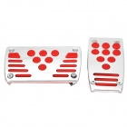 Universal Non-Slip Stainless Steel Car Accelerator Pedal + Brake Pedal Set - Red + Silver (2 PCS)