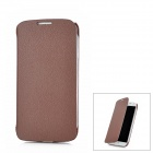 Lichee Pattern Protective Flip-Open PU Leather Case for Samsung Galaxy S4 / i9500 - Brown