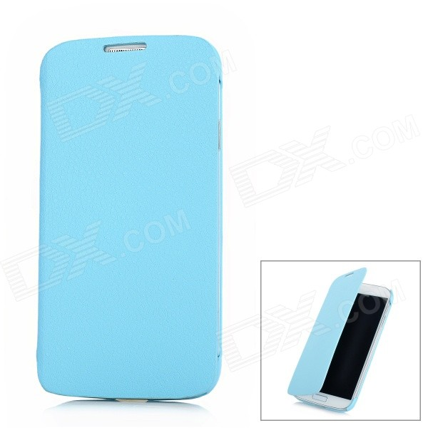 Lichee Pattern Protective Flip-Open PU Leather Case for Samsung Galaxy S4 / i9500 - Blue protective flip open pu leather case for samsung galaxy s4 i9500 white
