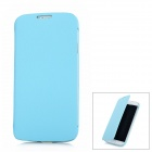 Lichee Pattern Protective Flip-Open PU Leather Case for Samsung Galaxy S4 / i9500 - Blue